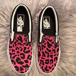 Brand new vans pink leopard print